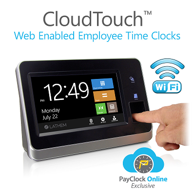 Lathem Launches New Web-Enabled CloudTouch™ Time Clocks with WiFi & Advanced Biometric Fingerprint Technology